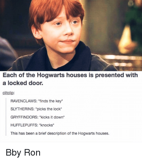 Each Of The Hogwarts Houses Is Presented With A Locked
