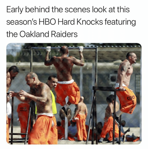 behind the scenes: Early behind the scenes look at this  season's HBO Hard Knocks featuring  the Oakland Raiders  CDC