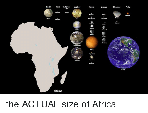 Africa, Earth, And Jupiter: Earth Mars Saturn  Asteroid Jupiter Neptune  Pluto Phebe