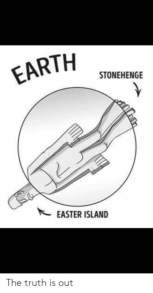 stonehenge: EARTH  STONEHENGE  EASTER ISLAND The truth is out