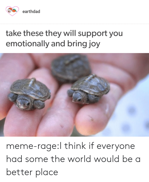 Meme Rage: earthdad  take these they will support you  emotionally and bring joy meme-rage:I think if everyone had some the world would be a better place