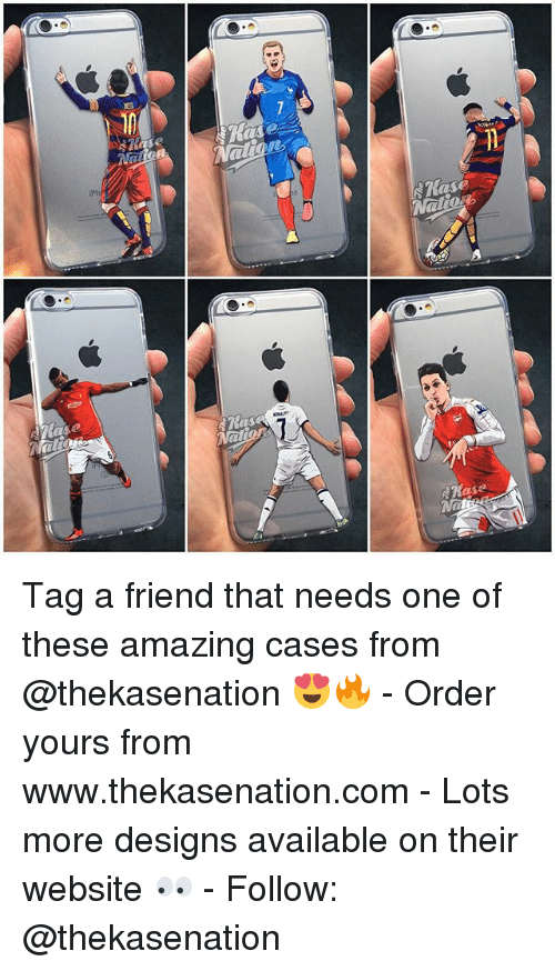 lso: !Ease  ECESe  ase  (LSO  7 Tag a friend that needs one of these amazing cases from @thekasenation 😍🔥 - Order yours from www.thekasenation.com - Lots more designs available on their website 👀 - Follow: @thekasenation