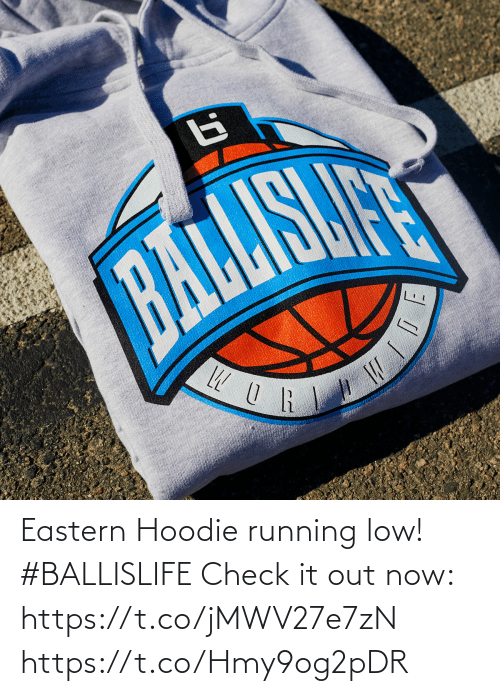 hoodie: Eastern Hoodie running low! #BALLISLIFE   Check it out now: https://t.co/jMWV27e7zN https://t.co/Hmy9og2pDR