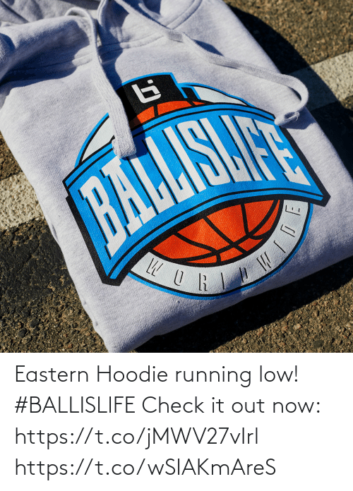hoodie: Eastern Hoodie running low! #BALLISLIFE   Check it out now: https://t.co/jMWV27vIrl https://t.co/wSIAKmAreS
