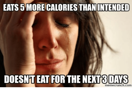 Memecrunch: EATS 5 MORE CALORIES THAN  INTENDED  DOESNT EAT FOR THE NEXT8DAYS  memecrunch.com