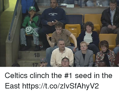 Celtics: EBAUEar  18  3 Celtics clinch the #1 seed in the East https://t.co/zIvSfAhyV2