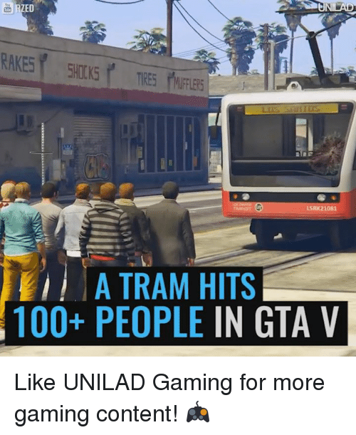 Ed, Edd n Eddy: ED  LSRIC2 1081  A TRAM HITS  100+ PEOPLE  IN GTA V Like UNILAD Gaming for more gaming content! 🎮