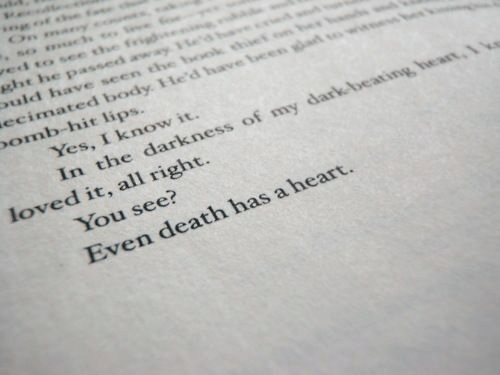 the darkness: ed tO Se t  omb-hit lips.  Yes, I know it.  In the darkness of my dark beating  You see?  Even death has a heart  loved it, all right.