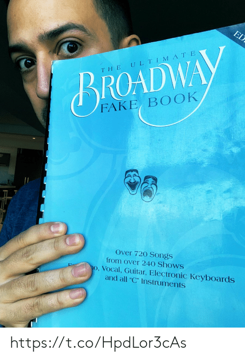 """broadway: ED  ULTIMATE  THE  BROADWAY  FAKE BOOK  Over 720 Songs  from over 240 Shows  o, Vocal, Guitar, Electronic Keyboards  and all """"C"""" Instruments https://t.co/HpdLor3cAs"""