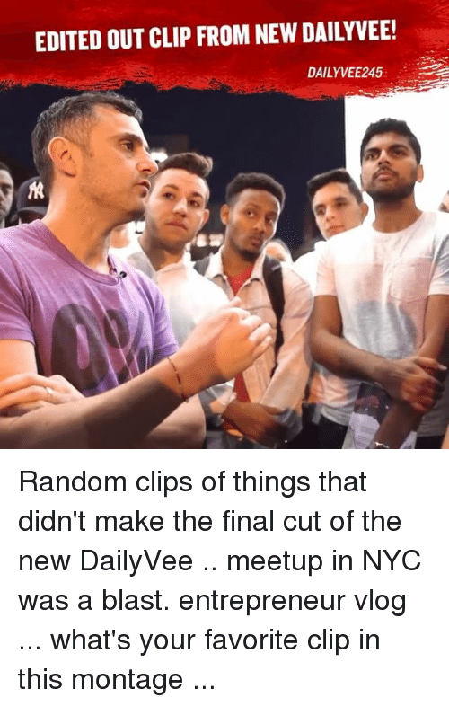 EDITED OUT CLIP FROM NEW DAILY VEE! DAILY VEE245 Random ...