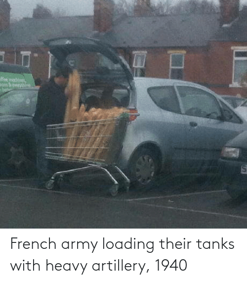 Army: eer  %24 French army loading their tanks with heavy artillery, 1940