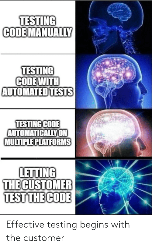 customer: Effective testing begins with the customer
