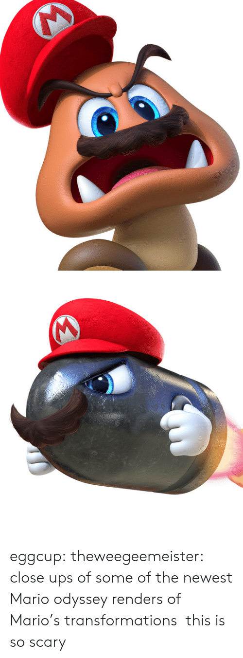 Mario Odyssey: eggcup:  theweegeemeister: close ups of some of the newest Mario odyssey renders of Mario's transformations this is so scary