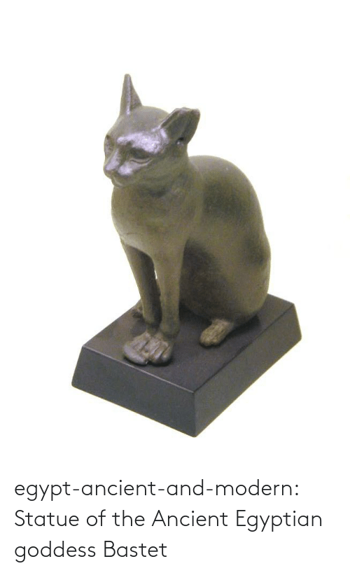 Egyptian: egypt-ancient-and-modern:  Statue of the Ancient Egyptian goddess Bastet