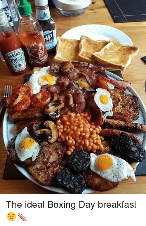 Chillys: El NZ  OMATO  CHILLI  NAH The ideal Boxing Day breakfast 🤤🥓