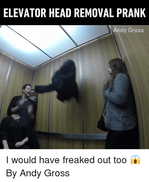 Freaked Out: ELEVATOR HEAD REMOVAL PRANK  Andy Gross I would have freaked out too 😱 By Andy Gross