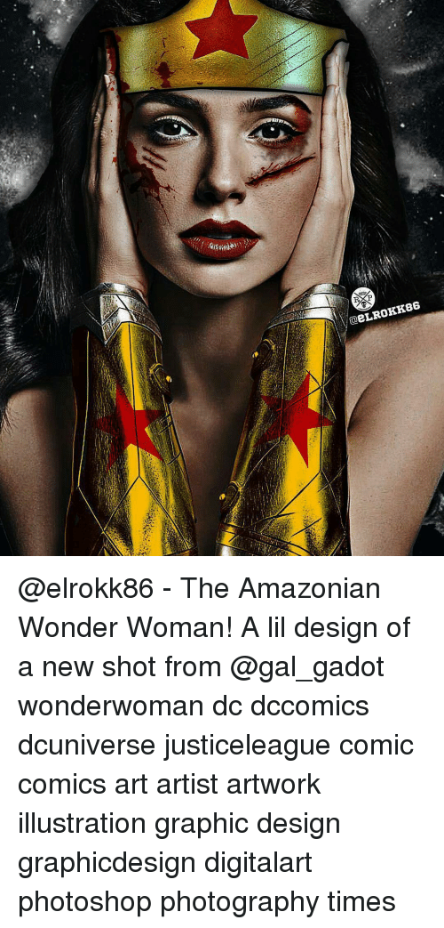 Graphicdesign: @eLR0KK86 @elrokk86 - The Amazonian Wonder Woman! A lil design of a new shot from @gal_gadot wonderwoman dc dccomics dcuniverse justiceleague comic comics art artist artwork illustration graphic design graphicdesign digitalart photoshop photography times