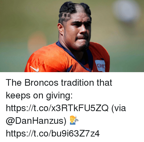 Memes, Broncos, and 🤖: EMD The Broncos tradition that keeps on giving: https://t.co/x3RTkFU5ZQ (via @DanHanzus) 💇‍♂️ https://t.co/bu9i63Z7z4