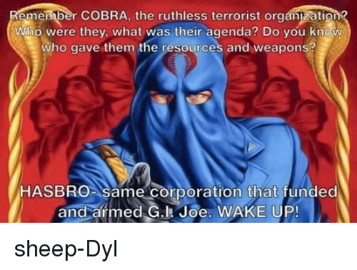 Memes, Ups, and Ruthless: emember COBRA, the ruthless terrorist tion? Who