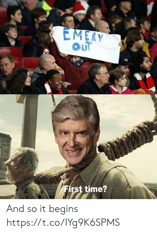 it begins: EMERY  OUT  First time? And so it begins https://t.co/IYg9K6SPMS