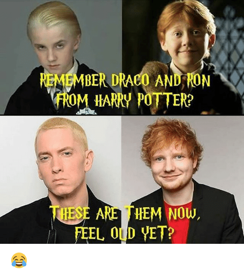 vetting: EMMBER DRACO AND RON  fROM HARRY POTTER?  HES  ARE HEM Now,  FEEL OLD VET? 😂