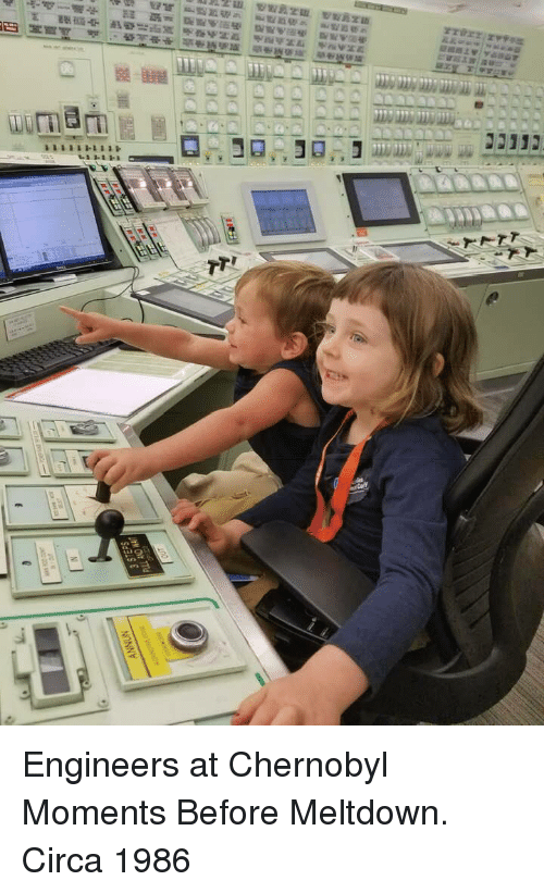 meltdown: Engineers at Chernobyl Moments Before Meltdown. Circa 1986