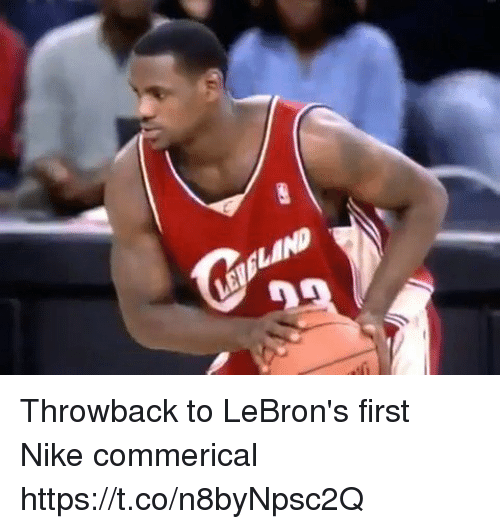 England, Nike, and First: ENGLAND Throwback to LeBron's first Nike commerical https://t.co/n8byNpsc2Q