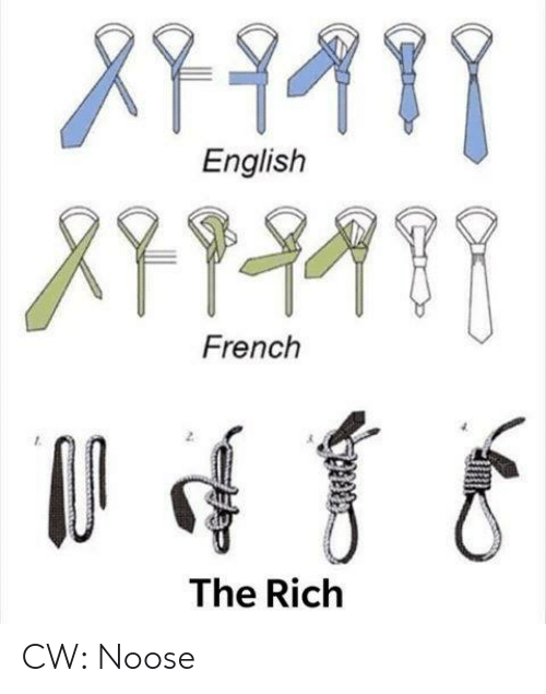 Sassy Socialast: English  French  2  The Riclh CW: Noose
