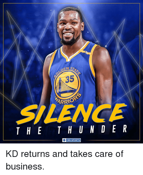 Memes, 🤖, and Cbs Sports: ENISD  35  ARRIO  THE T H U N D E R  O CBS SPORTS KD returns and takes care of business.