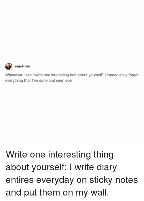 how to write an interesting blog about yourself