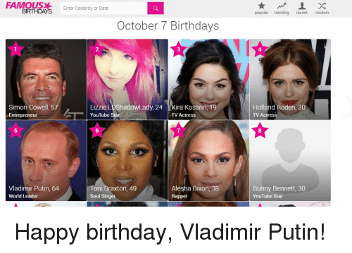 Famous People's Birthdays, October, India Celebrity Birthdays