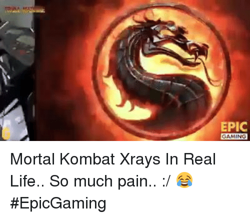 Mortal Kombat, Video Games, and Epic Games: EPIC  GAMING Mortal Kombat Xrays In Real Life.. So much pain.. :/ 😂 #EpicGaming