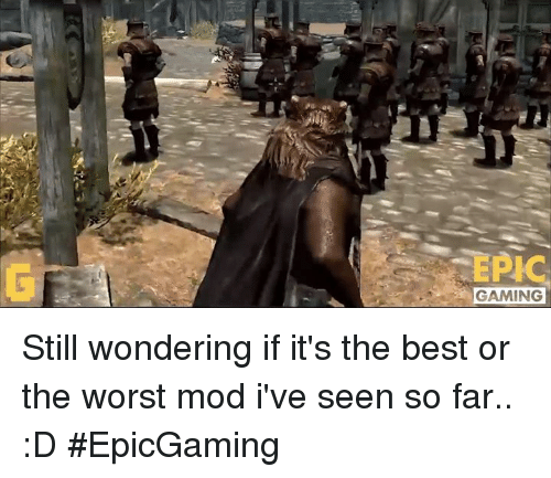 The Worst, Video Games, and Epic: EPIC  GAMING Still wondering if it's the best or the worst mod i've seen so far.. :D #EpicGaming