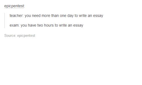 Can I write an essay in one day?