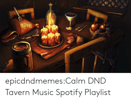 DnD: epicdndmemes:Calm DND Tavern Music Spotify Playlist