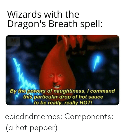 pepper: epicdndmemes:  Components: (a hot pepper)