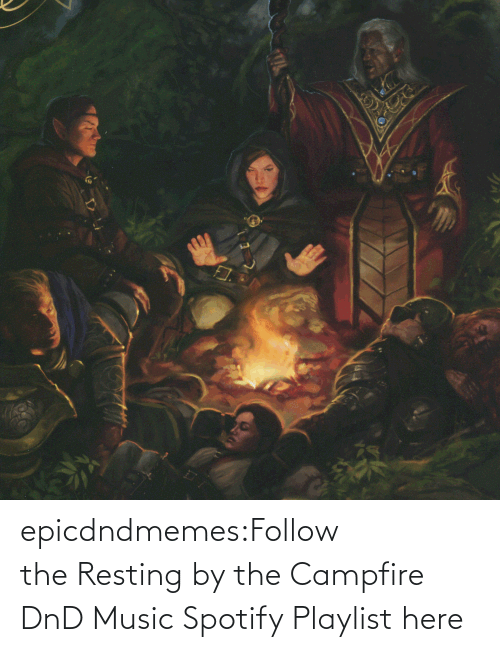 open: epicdndmemes:Follow the Resting by the Campfire DnD Music Spotify Playlist here