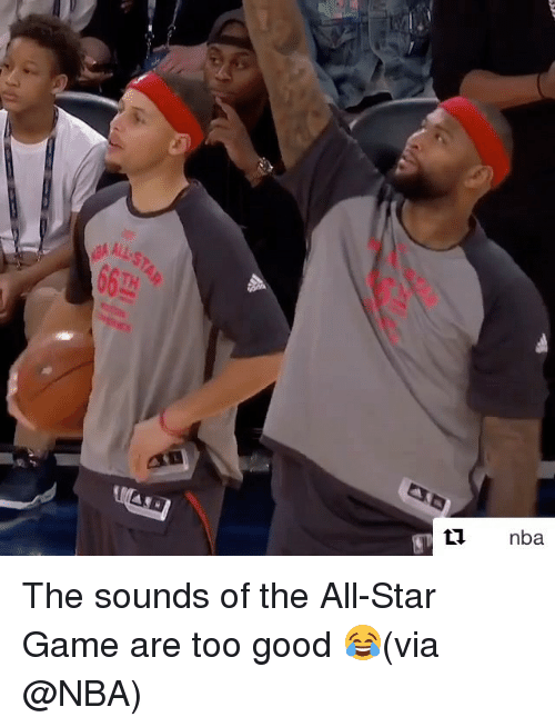 All Star, Nba, and Sports: equ  END  4STI  TYve The sounds of the All-Star Game are too good 😂(via @NBA)
