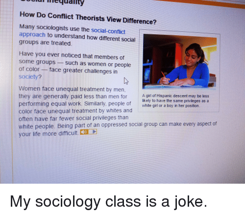the social conflict theory