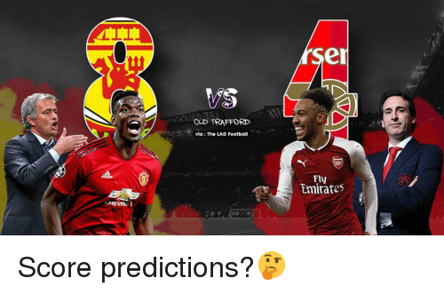 Predictions: er  OLD TRAFFORD  via: The LAD Foolball  Fly  Emirates Score predictions?🤔