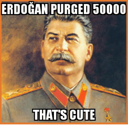 Glorious Greek Empire: ERDOGAN PURGED 50000  THAT'S CUTE