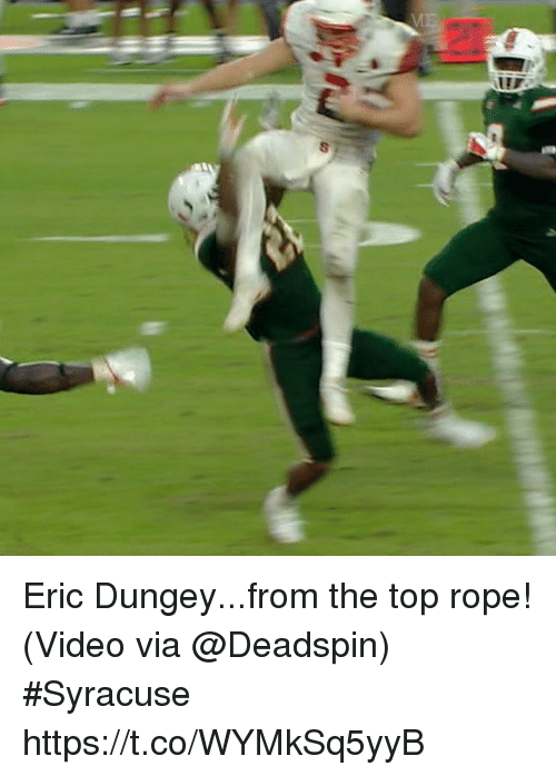 Sports, Video, and Syracuse : Eric Dungey...from the top rope!  (Video via @Deadspin) #Syracuse  https://t.co/WYMkSq5yyB