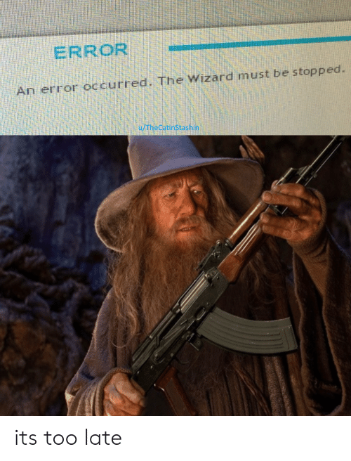 the wizard: ERROR  An error occurred. The Wizard must be stopped.  u/TheCatinStashin its too late