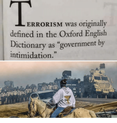 "Definately: ERRORISM was originally  defined in the Oxford English  Dictionary as ""government by  intimidation."