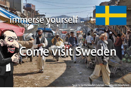erse yoursel visit sweden paid for by the swedish caliphate 2418511 sweden has fallen qatar proudly opens mega mosque in malmo, as,Sweden Memes