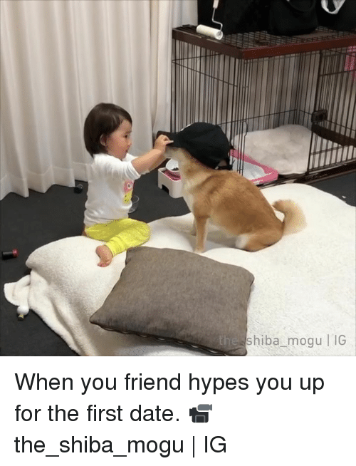 Dank, Date, and 🤖: eshiba_mogu IG When you friend hypes you up for the first date.  📹the_shiba_mogu | IG