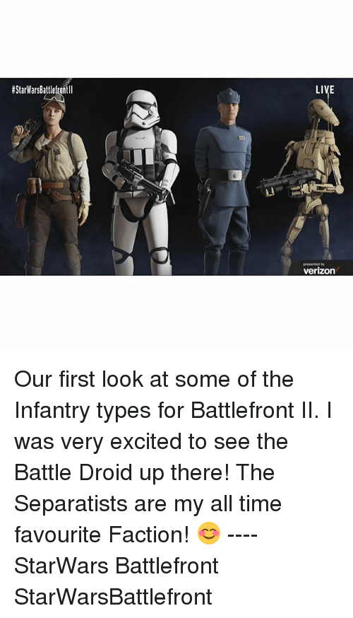 EStarWarsBattlefrontll LIVE Presented by Verizon Our First Look at Some of the Infantry Types ...