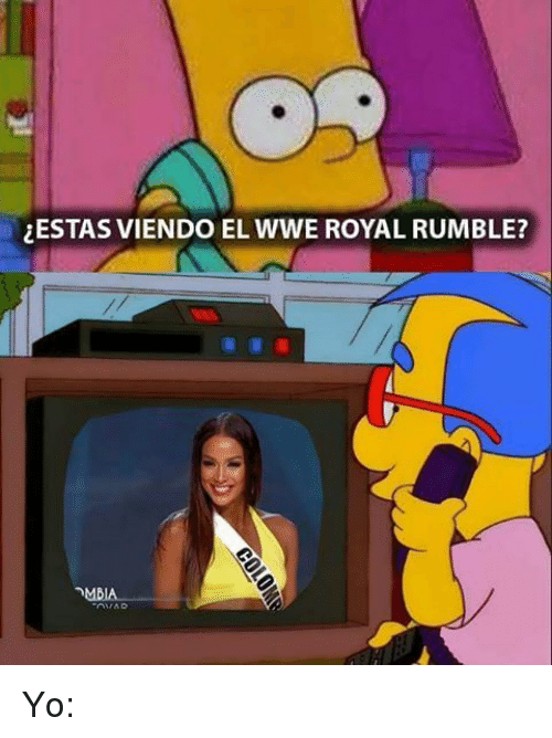 royal rumble: ESTAS VIENDO EL WWE ROYAL RUMBLE? Yo: