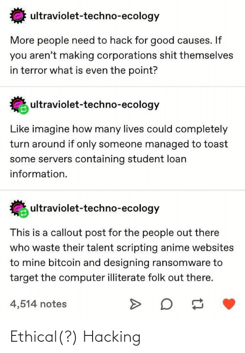 ethical: Ethical(?) Hacking