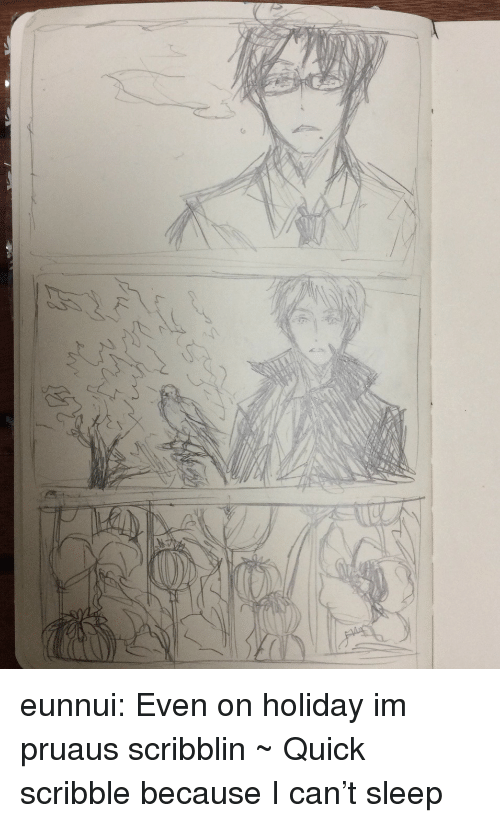 Because I Can: eunnui:  Even on holiday im pruaus scribblin ~  Quick scribble because I can't sleep